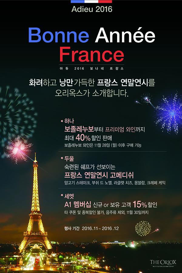 Adieu 2016! Bonne Annee France!